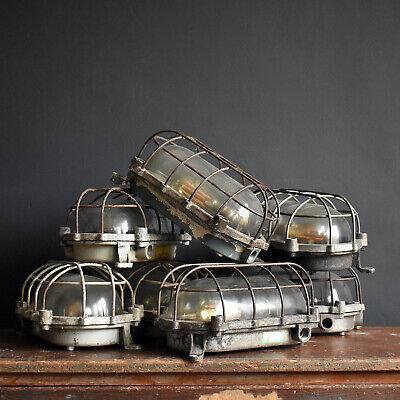 Vintage Industrial Bulkhead Lights - Mid Century Wall Ceiling Light Lighting