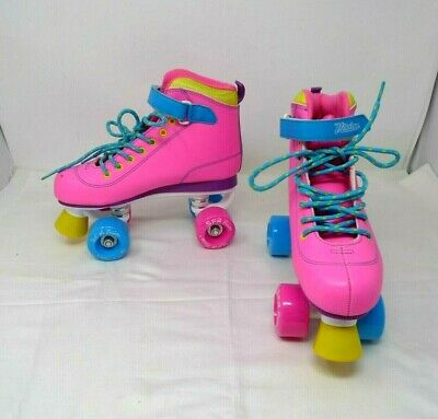 SFR VISION neon pink roller boots uk size 5 VGC *
