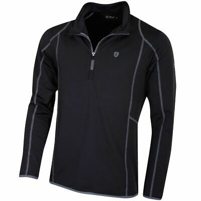 Island Green Golf IGMID1736 Mens Thermal Mid Layer Zip Neck Golf Top
