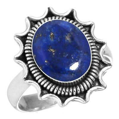 Natural Lapis Women Jewelry 925 Sterling Silver Ring Size 5.5 GK20609