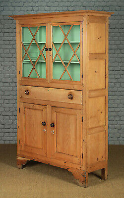 Antique Welsh Pine Kitchen Cupboard Dresser c.1820.