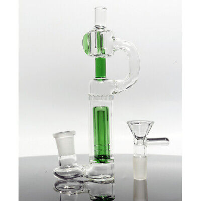 6'' Water Smoking Pipe Hookah Green Glass Bong Bubbler 14mm Bowl USA Delivery