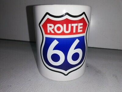 TASSE ceramique MUG COFFEE ROUTE 66 HARLEY BIKER CADILLAC CHEVROLET BUICK FORD