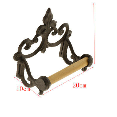 European Style Cast Iron Toilet Roll Holder Loo Paper Bathroom Fixture Rack