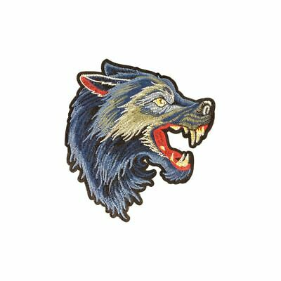 Blue Wolf XS L (Iron On) Embroidery Applique Patch Sew Iron Badge