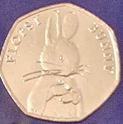 50p coin UNC 2018 Flopsy Bunny Beatrix Potter Fifty Pence from sealed bag