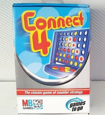 Connect 4 Travel Edition Fun Family Game MB Games - Games To Go - Hasbro 2005