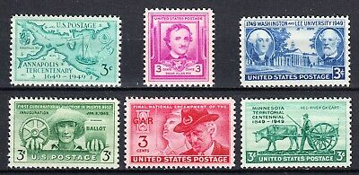 Us 1949 Commemorative Year Set 981 - 986  Mint Never Hinged Orginal Gum