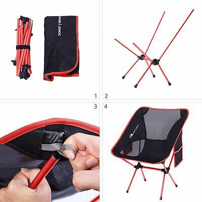 MOON LENCE Outdoor Ultralight Portable Folding Chairs with Carry Bag Heavy Duty