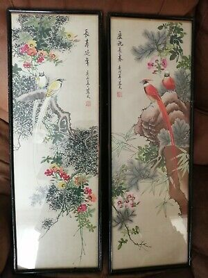 2 oriental pictures depicting two of the four seasons