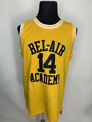 The Fresh Prince Of Bel Air Academy Jersey #14 Will Smith Yellow Mens  medium