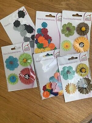 1m Ribbon Freshly Cut Flowers Papermania Craft Collection 6pcs