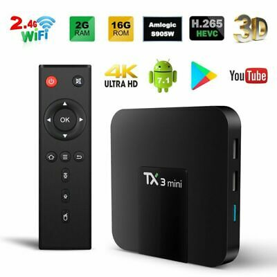 TX3 Mini 4K HD HDMI TV Box S905W WiFi 2GB+16GB 2.4GHz Media Player Android 7.1