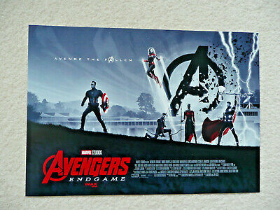 "AVENGERS ENDGAME AMC IMAX Exclusive Poster 15.5"" x 11"" - New"