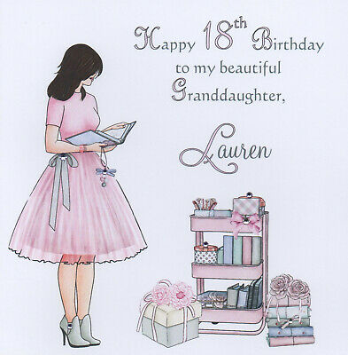 Handmade Personalised 16th Birthday Card 18th 21st Grand Daughter Sister Niece