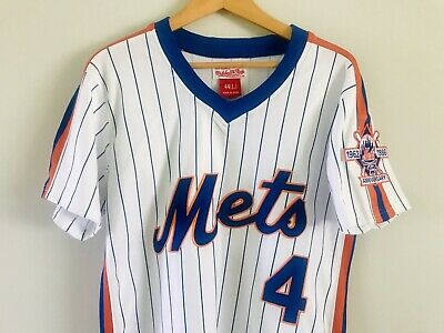 watch 249c7 7638f MITCHELL & NESS Lenny Dykstra New York Mets 1986 Throwback Jersey #4 Size 44