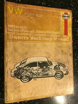 Vw Volkswagen Type 3 1500 & 1600 Manual Notchback Fastback Squareback 1963-1973
