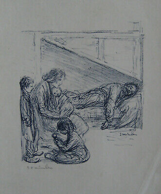 Steinlen Theophile Lithographie Signée Au Crayon Handsigned Lithograph
