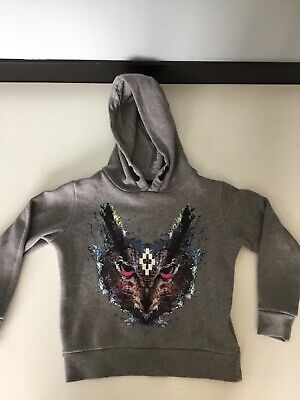 Marcelo Burlon Boys Jumper Sweater Hoodie Grey Age 4 Years Very Good Condition