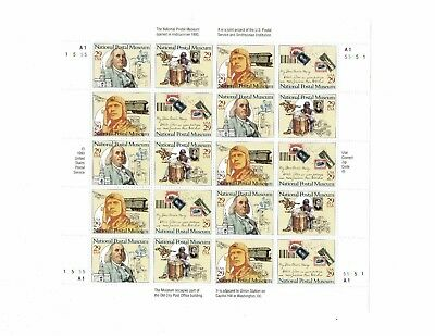 US 1993 National Postal Museum sheet #2779-2782.  Mint never hinged.