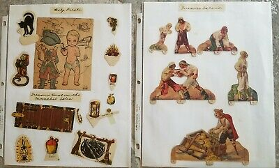 Lot of Neat old Original treausure Island and Pirate theme vintage paper dolls