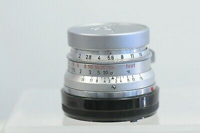 Leica Summicron 35mm F2 Lens with Cap & Filter
