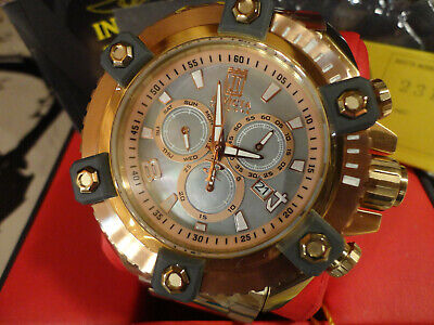 Invicta 23133 Reserve 63mm Goldtone JT Grand Octane Ltd Ed MOP Chrono Watch NEW!