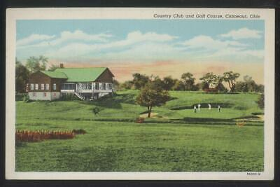 Postcard CONNEAUT Ohio/OH  Early 1900's Golf Course Country Club House 1930's