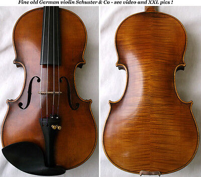 OLD GERMAN MASTER VIOLIN SCHUSTER & Co - see video - ANTIQUE バイオリン скрипка 588