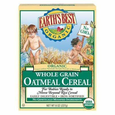 Earth's Best Cereal, Organic, Oatmeal - 8 Oz - Pack Of 12