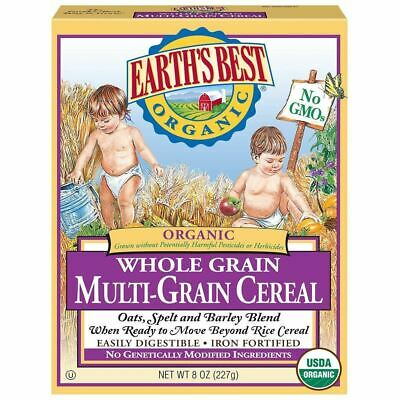 Earth's Best Cereal, Organic, Multi Grain - 8 Oz - Pack Of 12