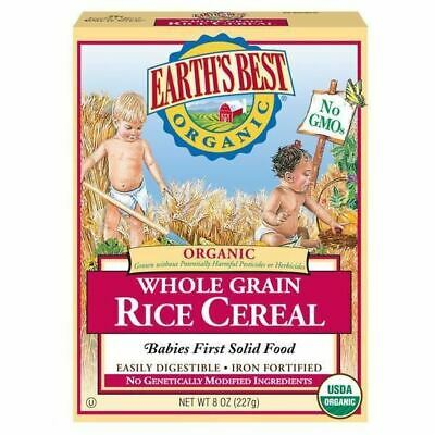 Earth's Best Cereal, Organic, Whole Grain Rice - 8 Oz - Pack Of 12