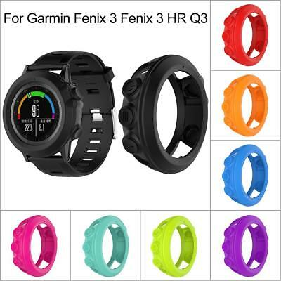 Silicone Protector Case Protective Shell For Garmin Fenix 3 HR Quatix 3 Watch