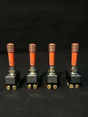 Toggle Switch Extension Powdered Coated Orange Aluminum Billet HydraulicLowrider