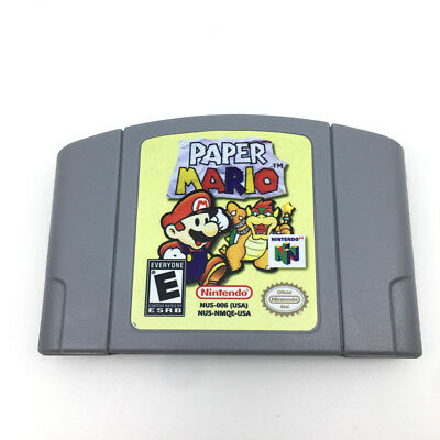 N64 PAPER MARIO Game Video cartridge Card for Nintendo 64 console - USA version