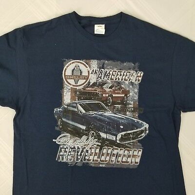Delta Mens Ford Shelby GT350 Cobra Mustang Racing Car New T-shirt Size Large L