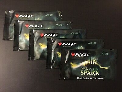 Magic the Gathering MTG - War of the Spark Standard Showdown Booster Packs x5