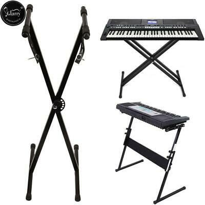 Heavy Duty Folding Adjustable Keyboard Stand X Z Frame Portable Piano w/ Straps