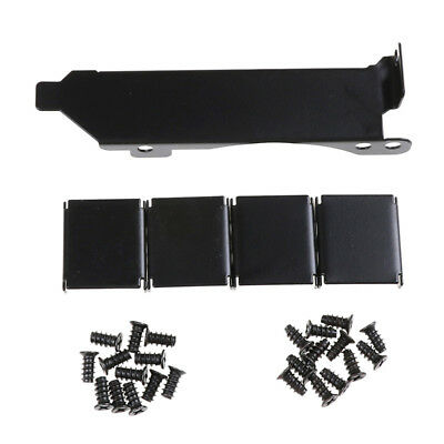 3 Fan Mount Rack PCI Slot Bracket+20 Screw+4 Connector For Video GPU Card CoolEO