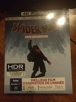 Spider Man New Generation  Blu Ray 4K Et 3D  Ultra Hd + Blu Ray Neuf Sous Cello