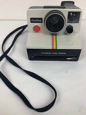 Vintage Polaroid SX 70 One Step Land Camera Rainbow With Strap Works