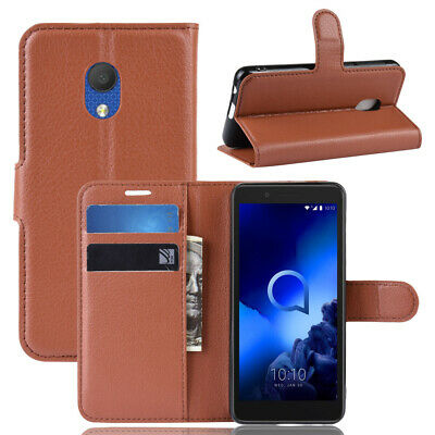 Luxury Magnetic PU Leather Flip Wallet Case Stand Cover For Alcatel 1C 2019