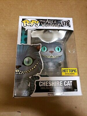 Funko Pop Cheshire Cat Flocked Alice Wonderland live action Hot Topic exclusive