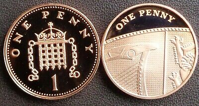 1971 -2019 Elizabeth II 1p Penny Decimal Proof Coin - Choose Your Year