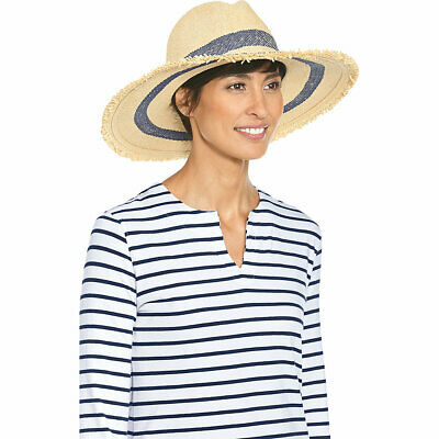 77c738702 COOLIBAR WOMENS PACKABLE Wide Brim Hat UPF 50+ Natural Straw One ...