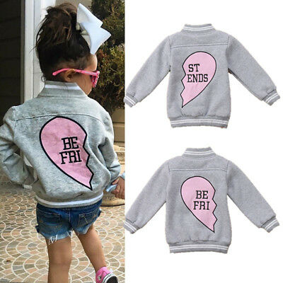 Kids Boys Girl Warm Outdoor Coat Toddler Baby Jacket Outwear Clothes AU Stock