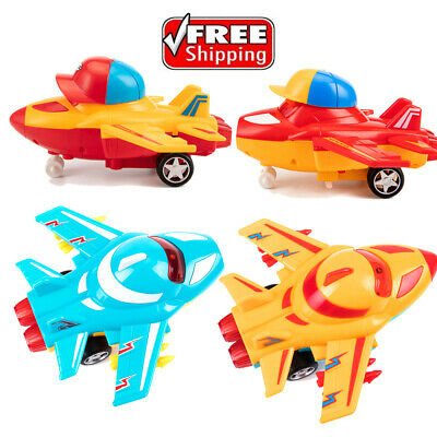 UK NEW Inertia Toy Plane Creative Friction Powered Car for Kids Safety Toy Plane