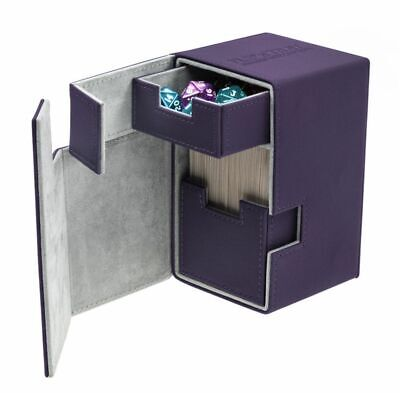 Ultimate Guard - Flip'n'Tray XenoSkin Deck Case 100+ Purple - Gaming Boxen Card