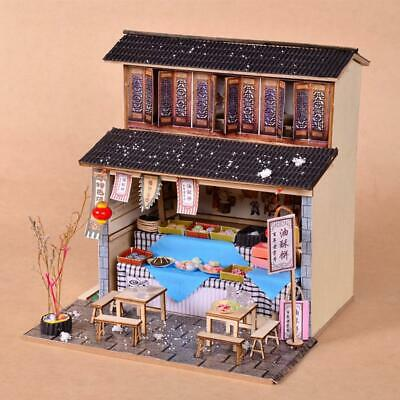 DIY Dollhouse Cabin Chinese Ancient Architecture Restaurant DIY Furniture Gifts
