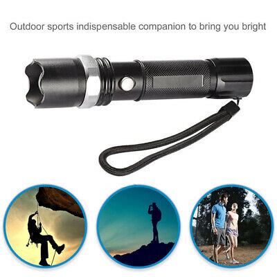 Police 90000LM T6 LED 18650 Super Bright Zoom Flashlight Powerful Lamp Torch UK